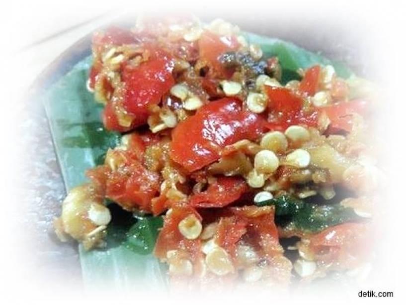 gambar sambal goang resep sambal goang oleh ruri aprilia cookpad resep sambal goang merah Resepi Sambal Udang Minang Enak dan Mudah